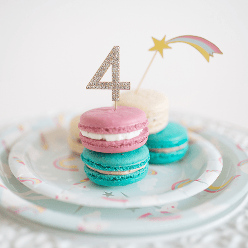 Rhinestone Cake Decoration - 10 Pack