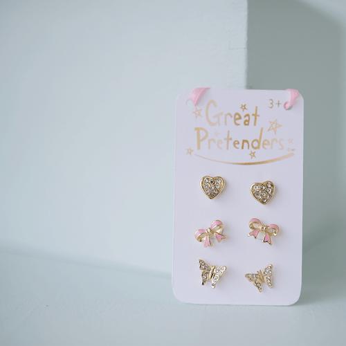 Dazzle Stud Earrings 3sets