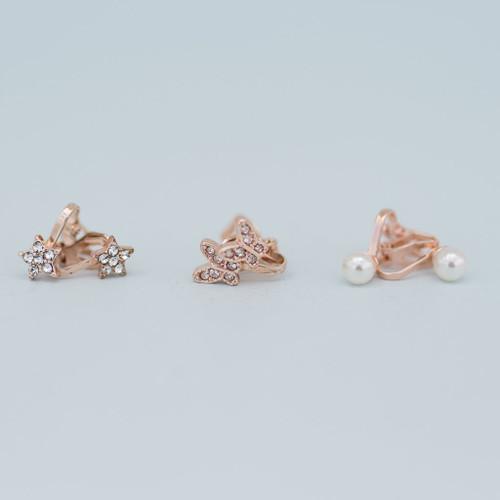 Dazzle Clip On Earrings 3sets
