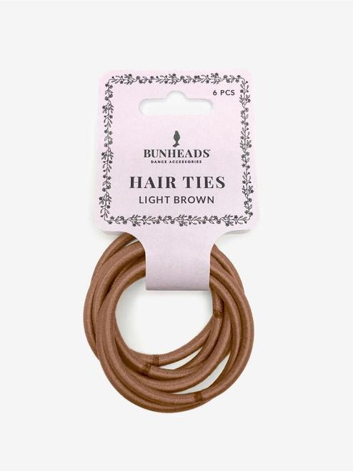 Light Brown Hair Elastics 6pack