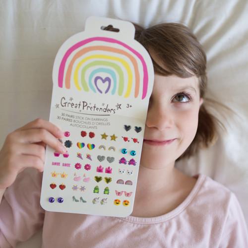 Rainbow Love Sticker Earrings