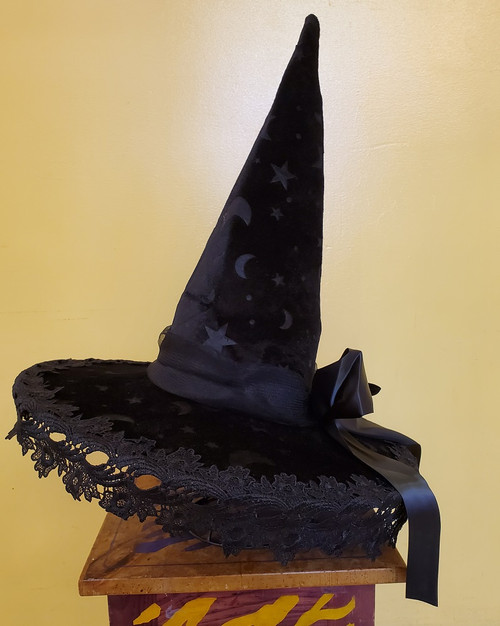 Star and Moon Witch Hat