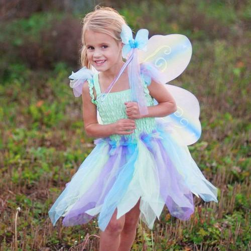 Rainbow Mint Butterfly Dress