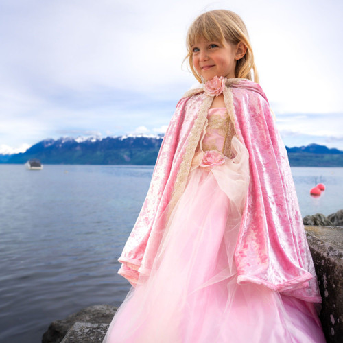Deluxe Pink Princess Cape age 6-8