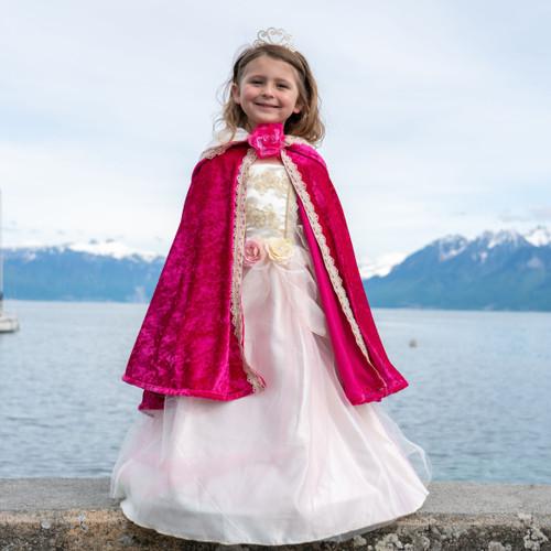 Deluxe Fuschia Princess Cape Age 2-6