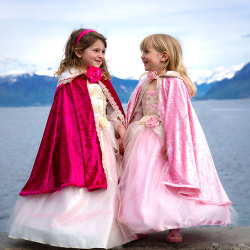 Deluxe Pink Princess Cape Age 2-6
