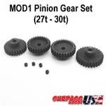 MOD1 Pinion Gear Set 27T-30T Hard Coated Alloy Steel (4) MOD12730
