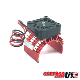 Rocket 1/10 Aluminum Brushless Motor Heatsink With 30mm Fan (Red) SP-100001-11