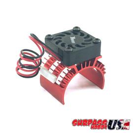 Rocket 1/10 Aluminum Brushless Motor Heatsink With 30mm Fan (Red) SP-100001-11