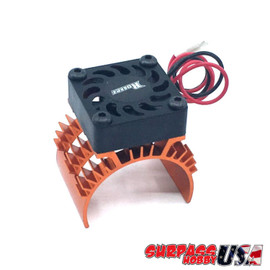 Rocket 1/10 Aluminum Brushless Motor Heatsink With 30mm Fan (Orange) SP-100001-13