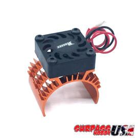 Rocket 1/10 Aluminum Brushless Motor Heatsink With 30mm Fan (Orange) SP-100001-13