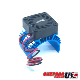 Rocket 1/10 Aluminum Brushless Motor Heatsink With 30mm Fan (Blue) SP-100001-12