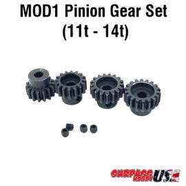 Rocket MOD1 Pinion Gear Set 11T-14T Hard Coated Alloy Steel (4) MOD11114