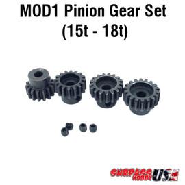 Rocket MOD1 Pinion Gear Set 15T-18T Hard Coated Alloy Steel (4) MOD11518