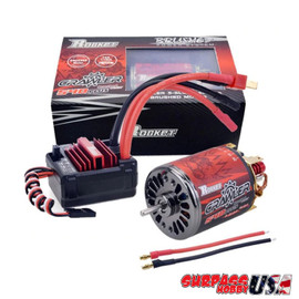 Rocket 13T 540 Plus Brushed Crawler Motor and 80Amp ESC Combo