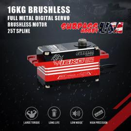 S1600BL Low Profile Full Metal Digital Brushless Servo 16KG/222oz .07/7.4v SP-860011-01