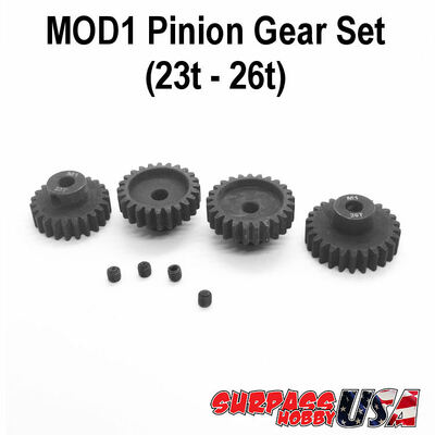 MOD1 Pinion Gear Set 23T-26T Hard Coated Alloy Steel (4) MOD12326