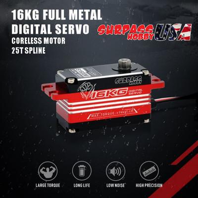 S1600M Low Profile Full Metal Digital Servo 16KG/222oz .08/7.4v SP-860011-02