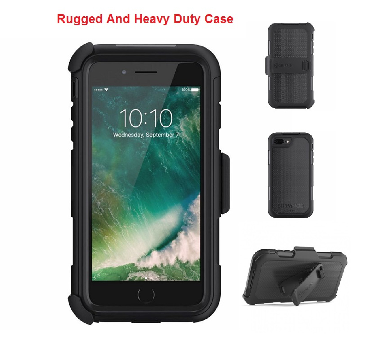 quality design 36df8 4edff IPhone 7/8 Plus Griffin Survivor Extreme Rugged Drop Protection Case