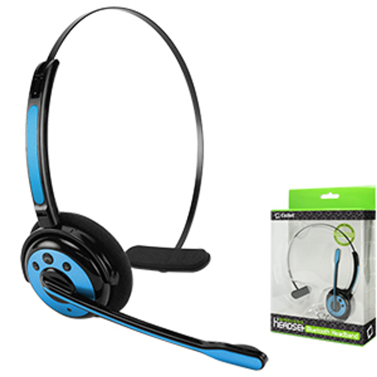 Bluetooth Cellet Wireless Blue Headset With Boom Microphone For Samsung Galaxy Note 2 3 4 5 Galaxy S4 S5 S6 S7 Apple Iphone 5 5s 5c 6 6s 7 Fit Most Bluetooth Compatible Cellphones