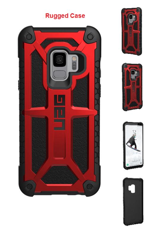 brand new b6e41 12508 Galaxy S9 For Urban Armor Gear UAG Monarch Case Red/Black