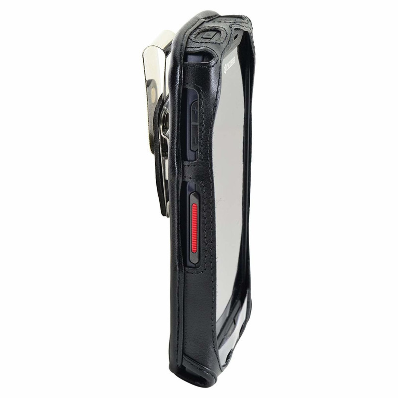 Kyocera DuraForce PRO E6810/ E6820/ E6830 For Rugged, Heavy Duty Leather  Fitted Case
