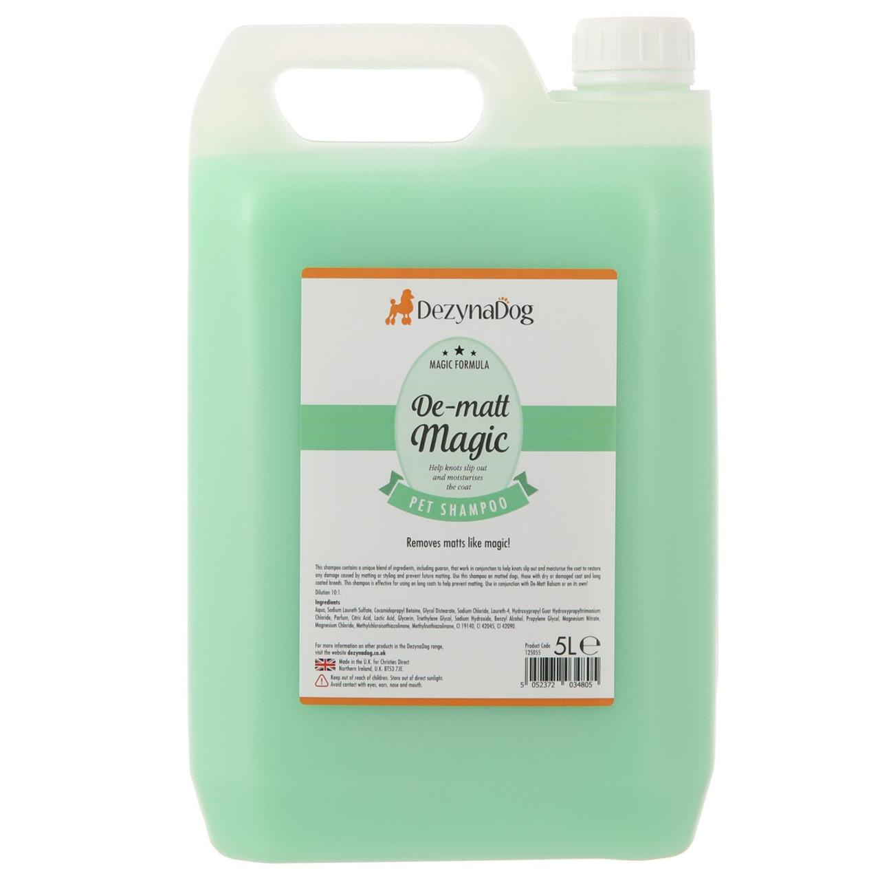 DeZynaDog De-Matt Magic Shampoo 5L