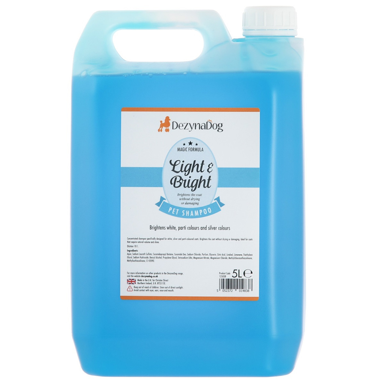 DeZynaDog Light & Bright White Coat Enhance Shampoo 5L