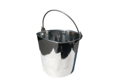 Show Tech Pail with One Flat Side Feeding Bowl For Dogs