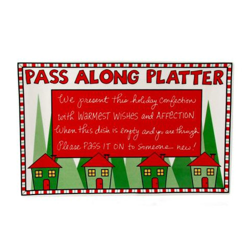 Platter,  Christmas pass along