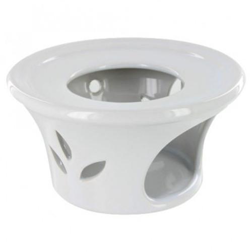Warmer, Teapot White Ceramic