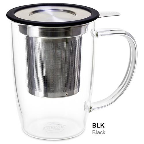 Mug, Infuser Glass 16 oz. Black