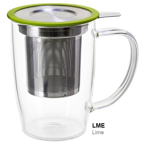 Mug, Infuser Glass 16 oz. Lime