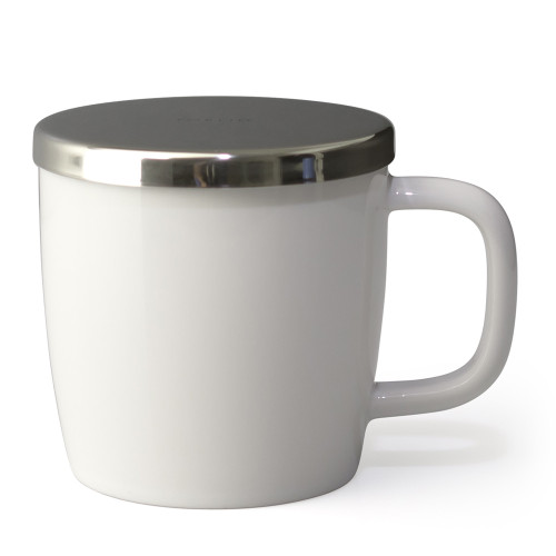 Mug, Dew with infuser 11oz (White)
