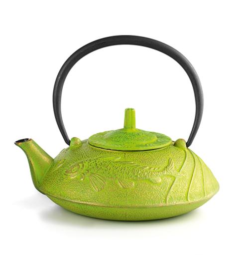 Cast Iron Teapot, 23.67 FL.OZ  Lime Fish