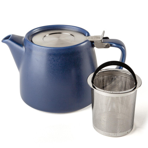 Teapot, Stump w/ Infuser 18oz (Indigo)