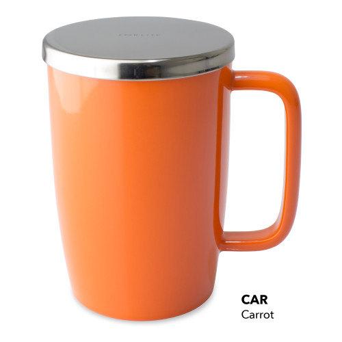 Mug, Infuser Dew 18 oz. Carrot Glossy