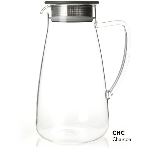 Flask, Glass 64 oz Charcoal