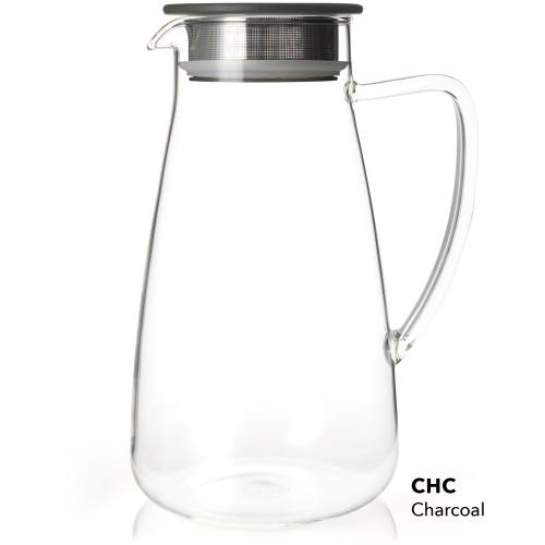 Flask, Glass 64 oz Charcoal