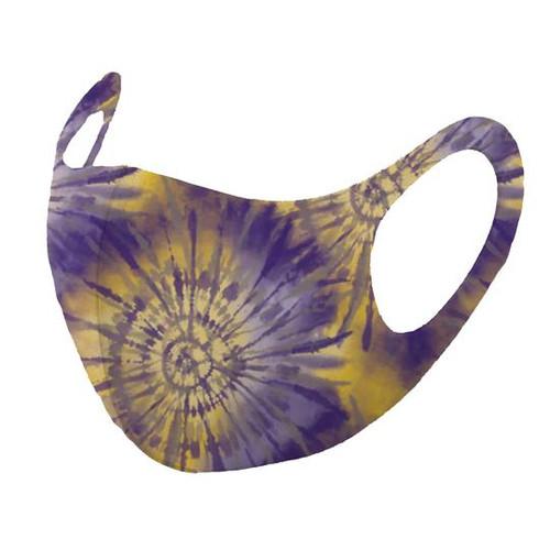 Mask, Adult Tie Dye Purple Gold