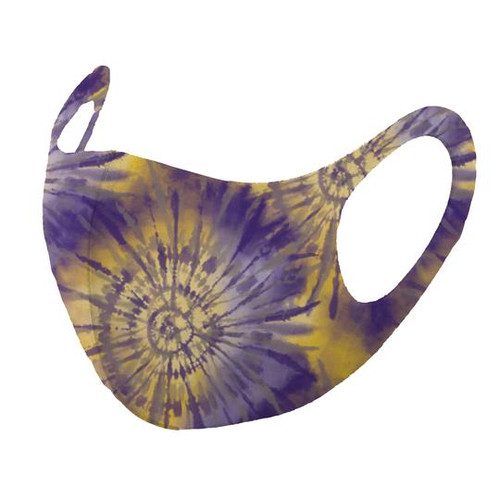 Mask, Adult Tie Dye Purple Gold