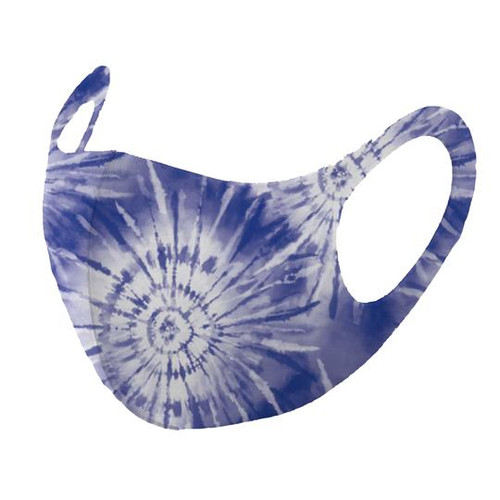 Mask, Child Tie Dye Dark Blue White