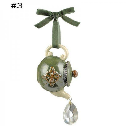 Ornament, Celtic Teapot Green