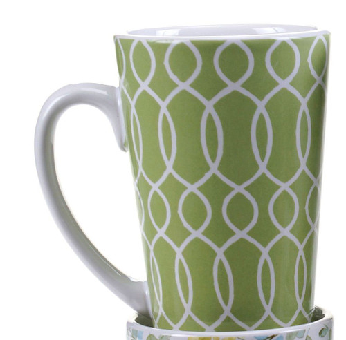 Mug, Green House Swirls