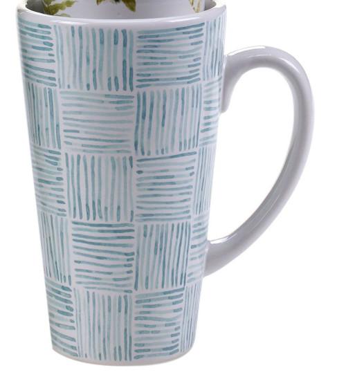 Mug, Green House Squares