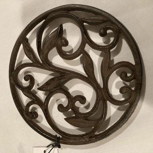 Trivet, Leaf Scroll Cast Iron
