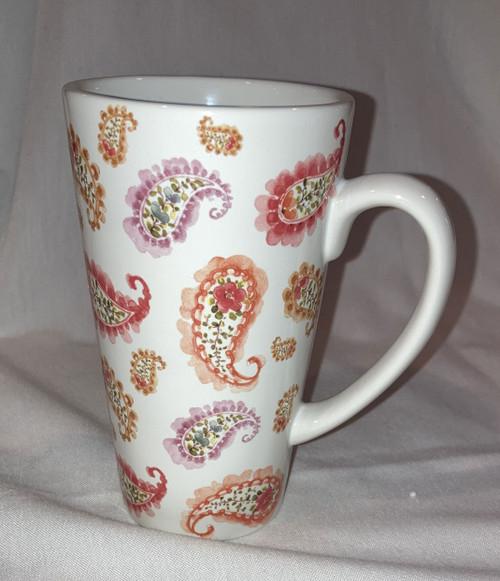 Mug Rainbow Latte Paisley 22oz