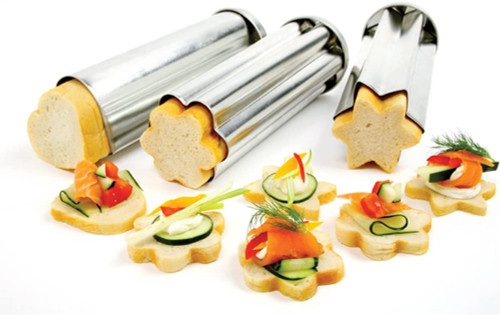 Tin Canape mold, 3 pc set