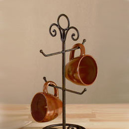 Stand, Mug - Metal/Brown
