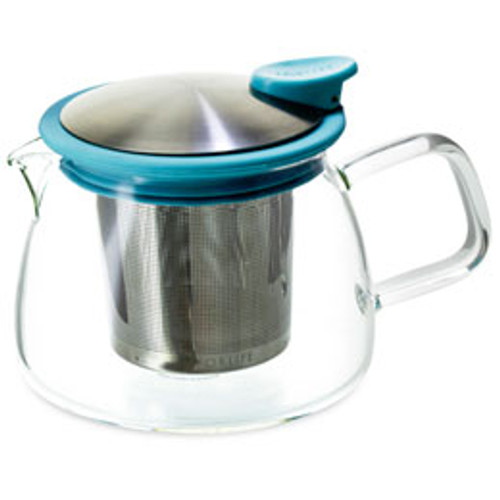 Teapot, Glass Bell 14oz (Turquoise)
